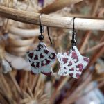 Red Lace Star Earrings