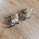 Black and Gold Cat Cufflinks