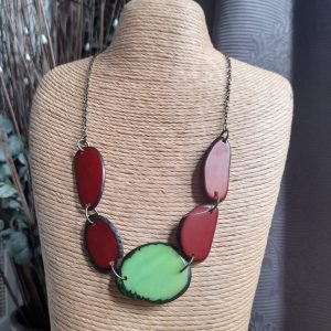 Green and Brown Tagua Nut Necklace