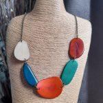 Multicoloured Tagua Nut Necklace