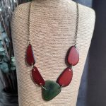 Olive and Brown Tagua Nut Necklace