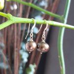 Green Single Pearl Earrings