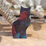 Dark Blue Cat Brooch