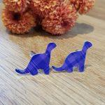 Purple Tartan Dinosaur Cufflinks
